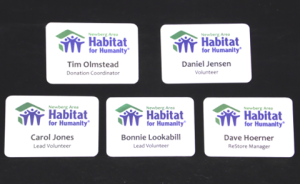 Name Badges Sublimated