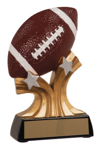 "5 1/4"" Football Shooting Star Resin"