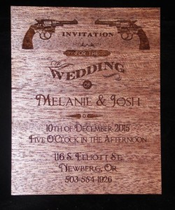 Wedding Invitation - wood